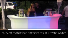 hire a cocktail bar